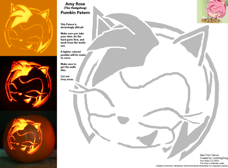 Amy Rose Pumpkin Patern
